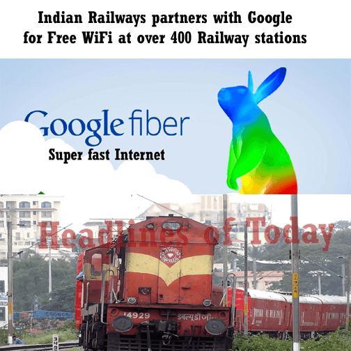 Indian Railways partners with Google for Free WiFi at over 400 Railway stations