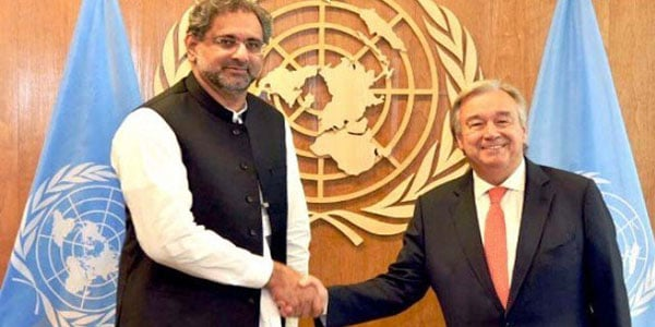 Pak PM offers dossier on Kashmir to UN chief
