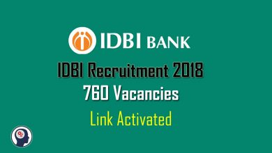 Photo of IDBI Recruitment 2018 – 760 Executive Positions, Apply Now