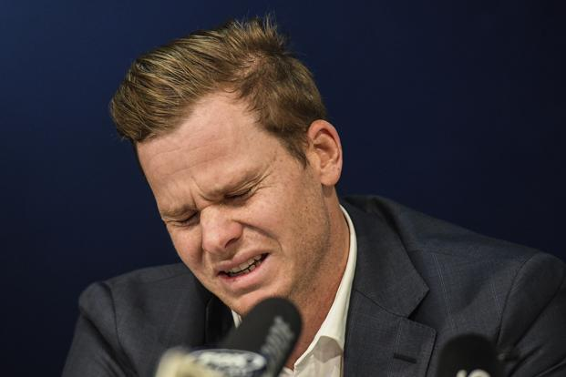 emotional Steve Smith