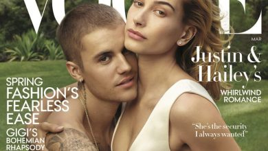 Photo of Justin Bieber and Hailey Beiber on Vogue Cover 2019