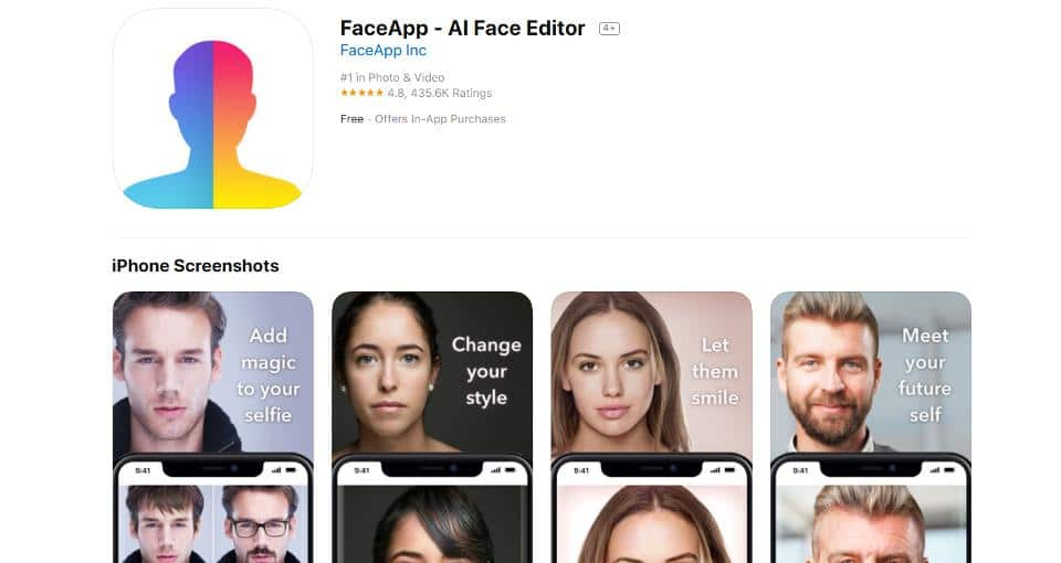 Photo of FaceApp an access your gallery even you have permission set to 'never'
