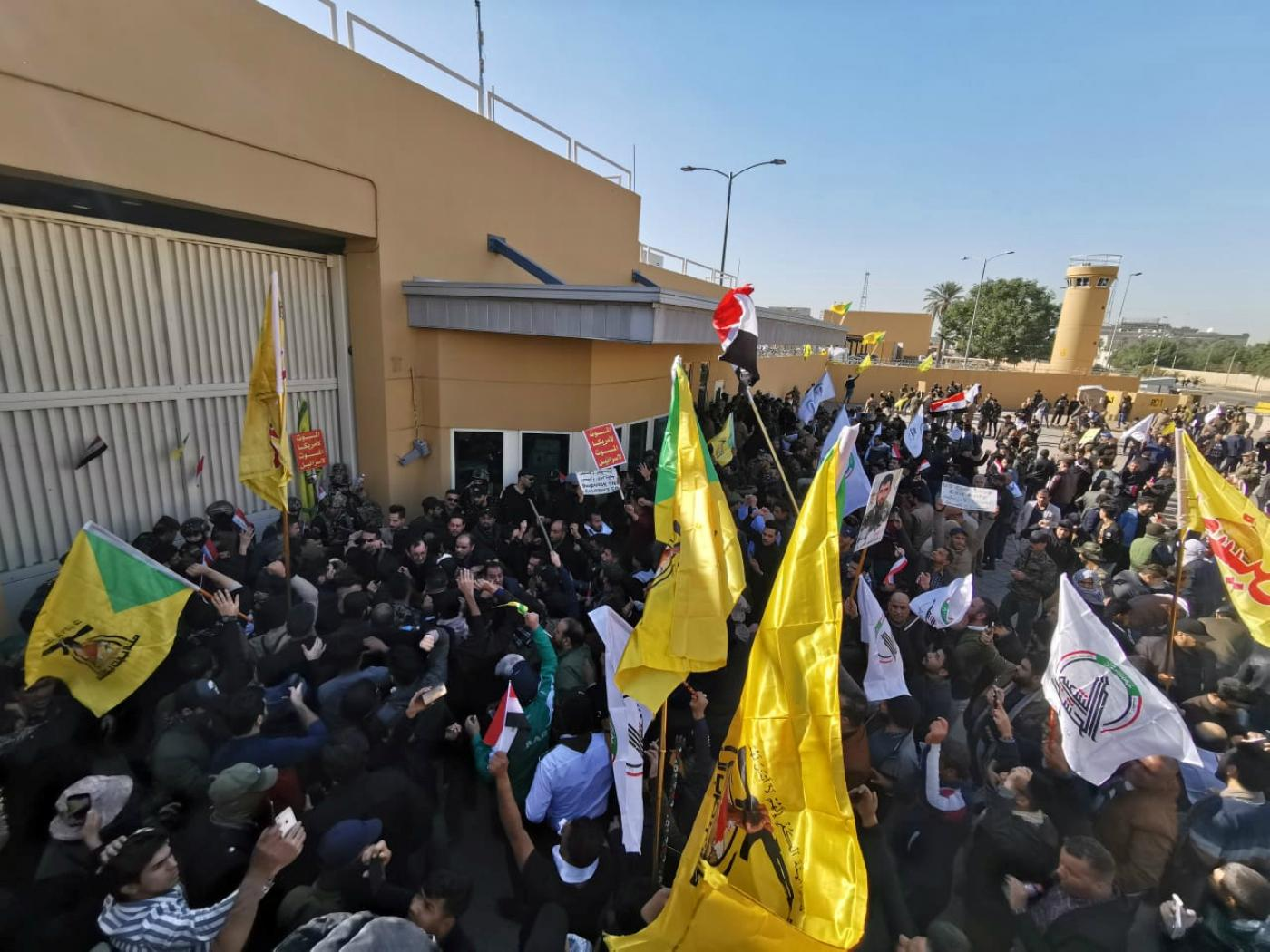 Photo of Saddened by US Airstrikes, Iraqi Protestors Storm US Embassy
