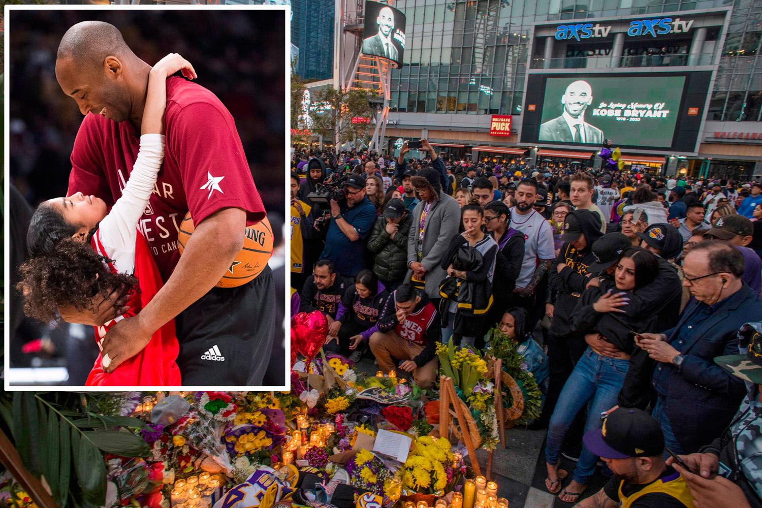 Photo of Los Angeles Lakers fans are distraught as they pay tribute to the basketball legend, Kobe Bryant and His Daughter Gianna