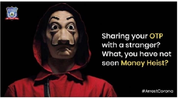 Bengaluru Police Spreads Cyber Fraud Awareness With 'Money Heist' Meme