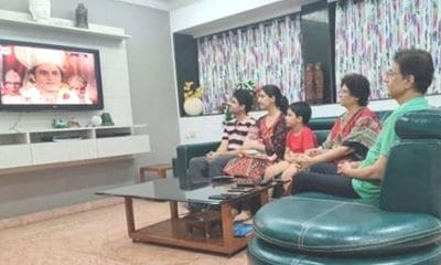 Lord Ram(Arun Govil) itself watches Ramayan return with family. Picture viral