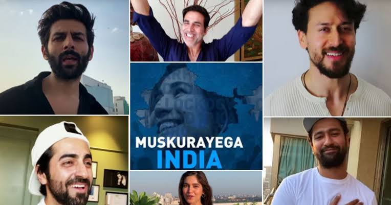 """Photo of """"Muskurayega India"""", presented by Jjust Music and Cape of Good Films appreciating our Nation for staying together and unite featuring Bollywood celebrities"""