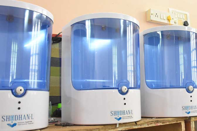 Photo of Hyderabad's Start-Up Comes With Shodhan-L, an Automatic Touch Free, Hand Sanitiser Dispenser