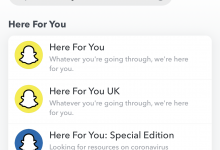 Photo of Snapchat rolls out new feature 'HERE FOR YOU'