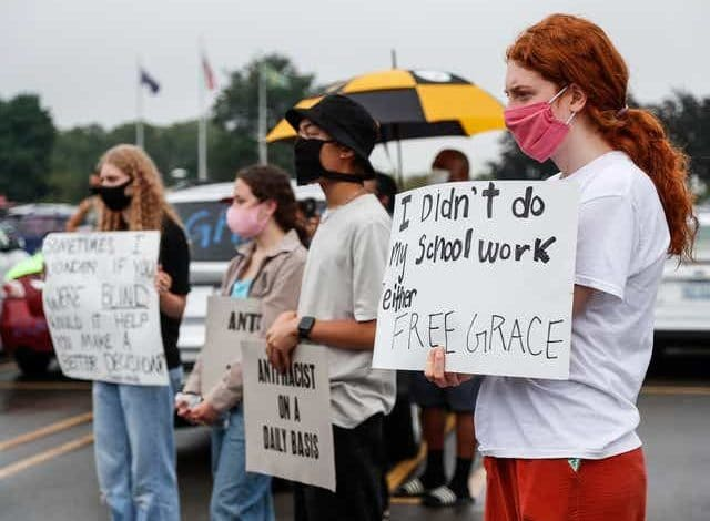 U.S Michigan witnesses protests to free Grace